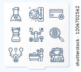 simple set of 9 icons   such as ... | Shutterstock .eps vector #1206702562
