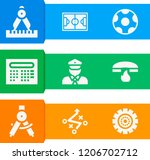 simple set of  9 filled icons... | Shutterstock .eps vector #1206702712