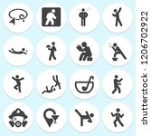 simple collection of adult... | Shutterstock .eps vector #1206702922