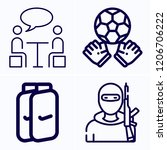 simple set of 4 icons such as... | Shutterstock .eps vector #1206706222