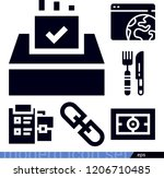 set of 6 interface filled icons ... | Shutterstock .eps vector #1206710485