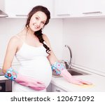 Beautiful Young Pregnant Woman...