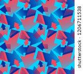 arrows seamless geometric... | Shutterstock .eps vector #1206711538