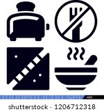 food related filled vector... | Shutterstock .eps vector #1206712318