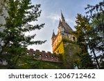 vajdahunyad castle gates tower   Shutterstock . vector #1206712462