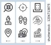 simple set of  9 outline icons... | Shutterstock .eps vector #1206713875