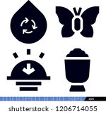 set of 4 nature filled icons... | Shutterstock .eps vector #1206714055