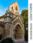 church in vajdahunyad castle   Shutterstock . vector #1206714898