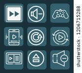 contains such icons as gamepad  ... | Shutterstock .eps vector #1206715288