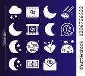 simple set of 16 icons related... | Shutterstock .eps vector #1206726322