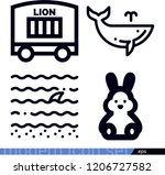 set of 4 animals outline icons... | Shutterstock .eps vector #1206727582