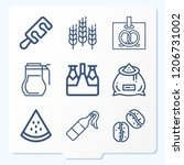 simple set of 9 icons related... | Shutterstock .eps vector #1206731002
