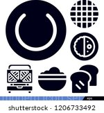 set of 6 food filled icons such ... | Shutterstock .eps vector #1206733492