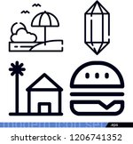 set of 4 nature outline icons... | Shutterstock .eps vector #1206741352