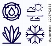 simple set of 4 icons related... | Shutterstock .eps vector #1206742555