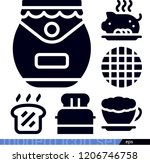 food related filled vector... | Shutterstock .eps vector #1206746758
