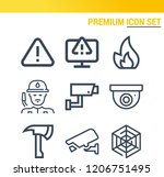 simple set of  9 outline icons... | Shutterstock .eps vector #1206751495