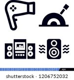 technology related filled... | Shutterstock .eps vector #1206752032