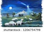 religious illustration three... | Shutterstock . vector #1206754798
