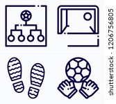 simple set of 4 icons related... | Shutterstock .eps vector #1206756805