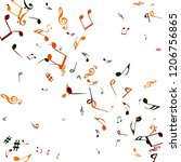 musical signs. modern... | Shutterstock .eps vector #1206756865