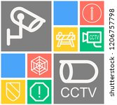 simple set of  10 outline icons ... | Shutterstock .eps vector #1206757798