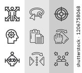 simple collection of concept... | Shutterstock .eps vector #1206758068