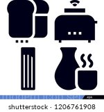 food related filled vector... | Shutterstock .eps vector #1206761908