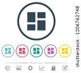 admin dashboard panels flat... | Shutterstock .eps vector #1206762748