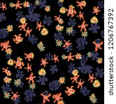 small floral seamless pattern... | Shutterstock .eps vector #1206767392