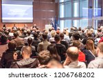 business conference and... | Shutterstock . vector #1206768202