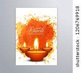 happy diwali colorful brochure... | Shutterstock .eps vector #1206769918