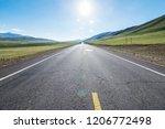 wild field highway    Shutterstock . vector #1206772498