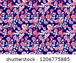 seamless vintage flower pattern ... | Shutterstock . vector #1206775885