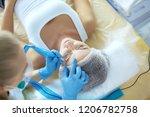 permanent makeup for eyebrows.... | Shutterstock . vector #1206782758