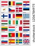 european flags part 1 of 2  ... | Shutterstock .eps vector #1206784975