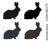 rabbits silhouettes. vector.... | Shutterstock .eps vector #1206786175