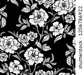 elegant seamless pattern with... | Shutterstock . vector #1206786922