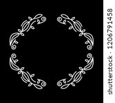 vintage wedding badges florist...   Shutterstock .eps vector #1206791458
