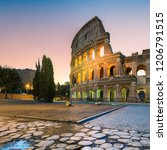 view of colosseum  coliseum  in ... | Shutterstock . vector #1206791515