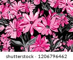 elegant seamless pattern with... | Shutterstock . vector #1206796462