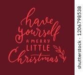 vector christmas hand lettering ... | Shutterstock .eps vector #1206798538