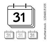 calendar vector icon... | Shutterstock .eps vector #1206815155