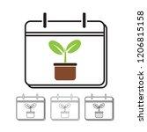 calendar vector icon... | Shutterstock .eps vector #1206815158
