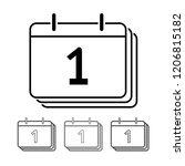 calendar vector icon... | Shutterstock .eps vector #1206815182