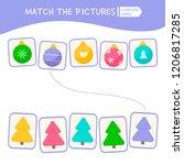 matching children educational... | Shutterstock .eps vector #1206817285