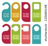 do not disturb door hanger set | Shutterstock .eps vector #120684148