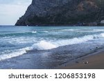 coastline  sea waves on the... | Shutterstock . vector #1206853198