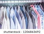 multi colored men's business... | Shutterstock . vector #1206863692