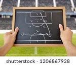 hand of a football coach...   Shutterstock . vector #1206867928